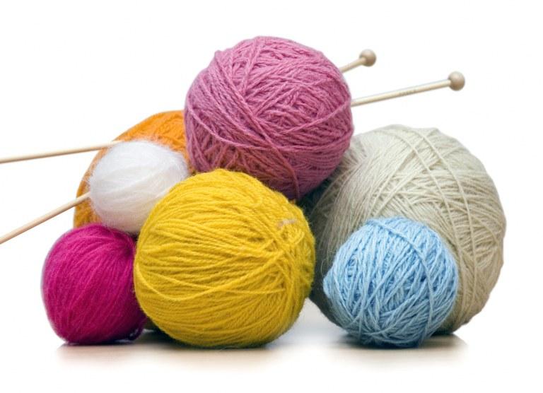 knitting balls of yarn