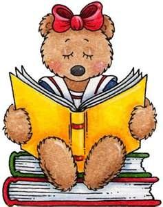Little bear reading book - Storytime